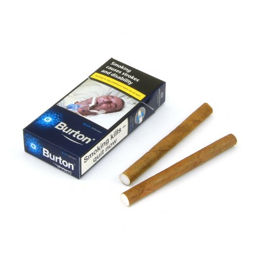 Burton | Blue Crushball Leaf Wrapped Cigarillos | 10 Pack