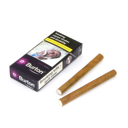 Burton | Purple Crushball Leaf Wrapped Cigarillos | 10 Pack