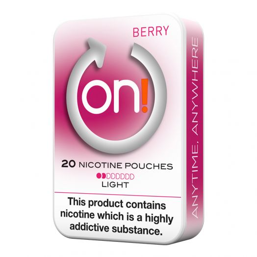Tobacco Free on!® Nicotine Pouches - Berry 2mg (Light)