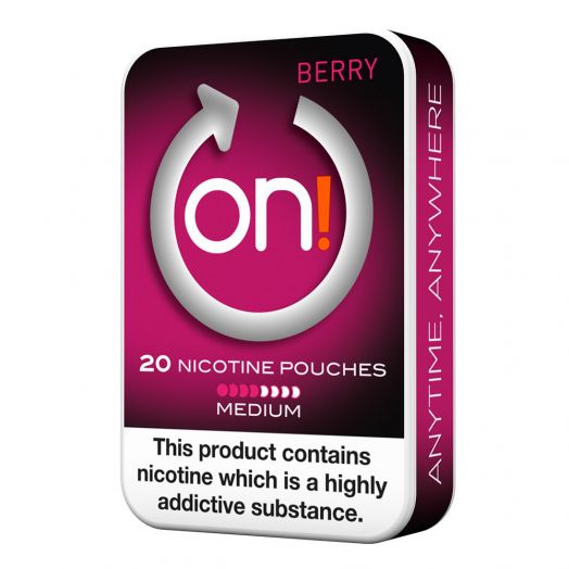 Tobacco Free on!® Nicotine Pouches - Berry 4mg (Medium)