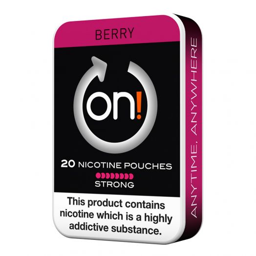 Tobacco Free on!® Nicotine Pouches - Berry 8mg (Strong)