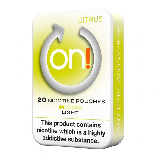 Tobacco Free on!® Nicotine Pouches - Citrus 2mg (Light)