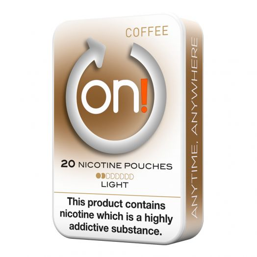 Tobacco Free on!® Nicotine Pouches - Coffee 2mg (Light)