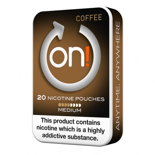 Tobacco Free on!® Nicotine Pouches - Coffee 4mg (Medium)