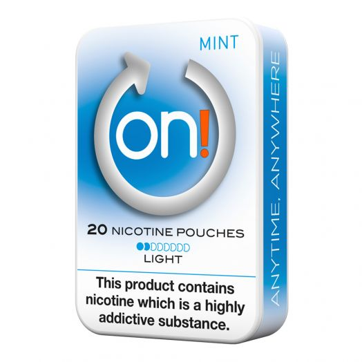 Tobacco Free on!® Nicotine Pouches - Mint 2mg (Light)