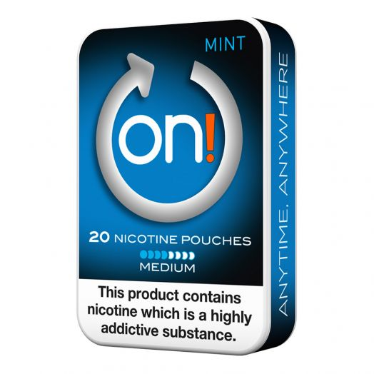 Tobacco Free on!® Nicotine Pouches - Mint 4mg (Medium)
