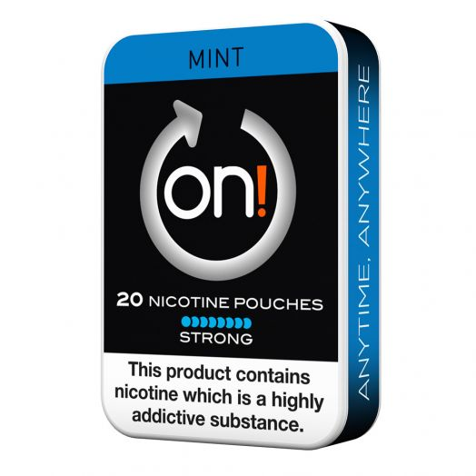 Tobacco Free on!® Nicotine Pouches - Mint 8mg (Strong)