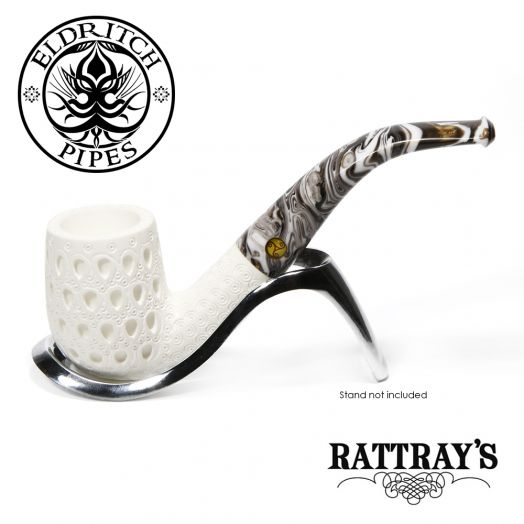 Rattray's White Goddess Meerschaum Pipe | Candy Carved 01