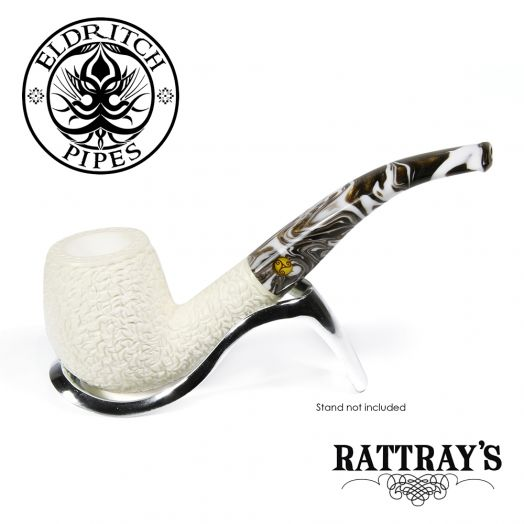 Rattray's White Goddess Meerschaum Pipe | Candy Carved 12
