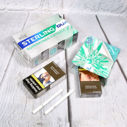 Sterling | 20 Dual Superkings Capsule Cigarettes