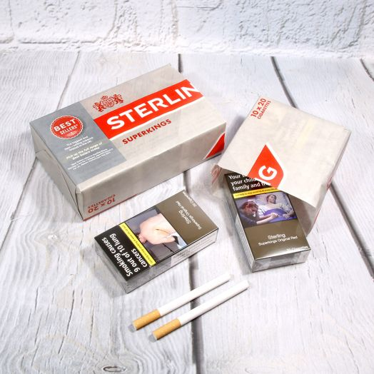 Sterling | 20 Superkings Original Red Cigarettes